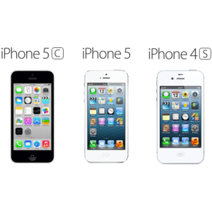 Compare iPhone5S, iPhone5C, iPhone5, iPhone4S, iPhone4