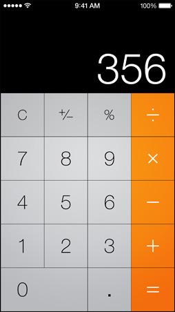 iOS7 Calculator Screen