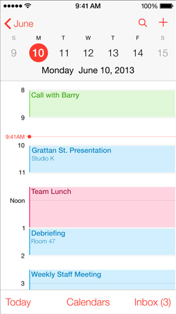 iOS7 Calendar Screen