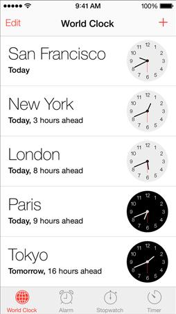 iOS7 Clock Screen