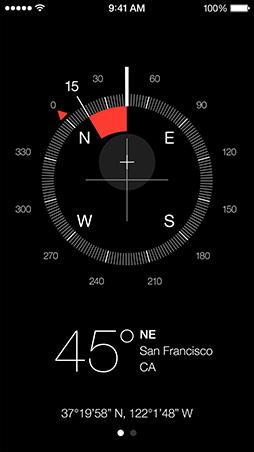 iOS7 Compass Screen