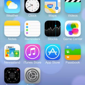 iOS7 Flat Design Screen