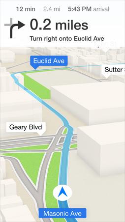 iOS7 Maps Screen