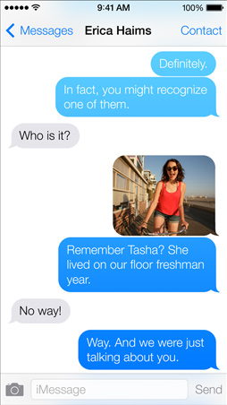 iOS7 Messages Screen