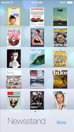 iOS7 Newsstand Screen