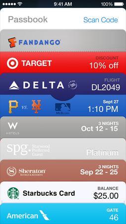 iOS7 Passbook Screen