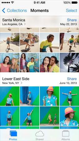 iOS7 Photos Screen