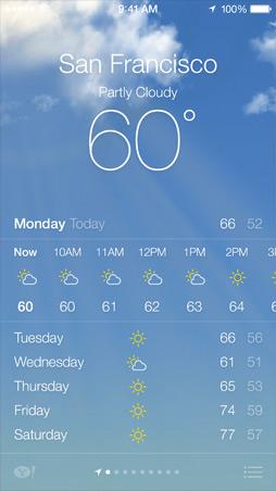 iOS7 Weather Screen